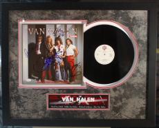 "RARE-VAN HALEN ""PANAMA"" 12"" LP signed by ALL 4 Band members framed display-JSA"