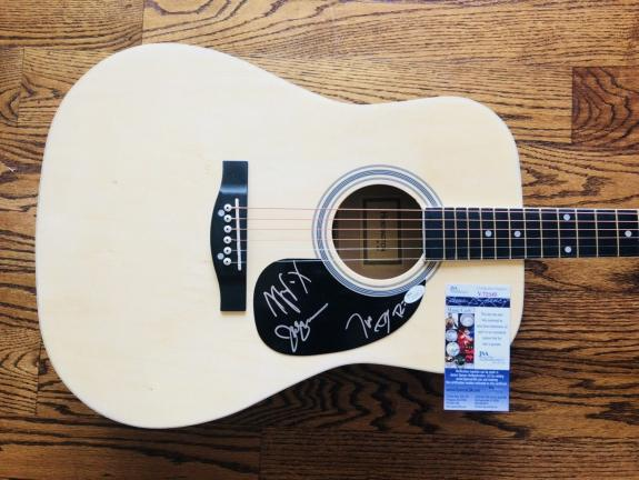 Rascal Flatts (3) Levox, Demarcus & Rooney Signed Acoustic Guitar Jsa Coa V72045