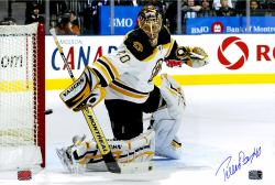 Tuuka Rask Boston Bruins Autographed 12'' x 18'' Horizontal Making Save Photograph - Mounted Memories