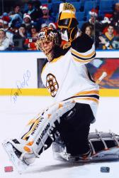 Tuuka Rask Boston Bruins Autographed 12'' x 18'' Vertical Making Save Photograph - Mounted Memories