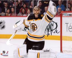 "Tuukka Rask Boston Bruins Autographed 8"" x 10"" Glove Save Photograph"