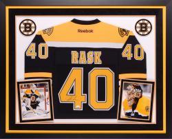 Tuukka Rask Boston Bruins Autographed Deluxe Framed Reebok Premier Jersey
