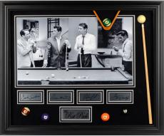Rat Pack Pool Table Framed Photograph with Facsimile Autographs