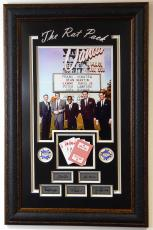 Hollywood Rat Pack w- Cards and 5 laser sigs 16x20