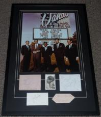 Rat Pack Signed Framed Poster Display JSA Sinatra Martin Davis Bishop Lawford