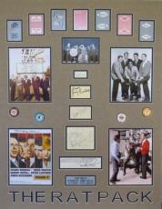 Rat Pack Signed Matted Display Sinatra/Martin/Davis/Lawford/Bishop PSA/DNA LOA