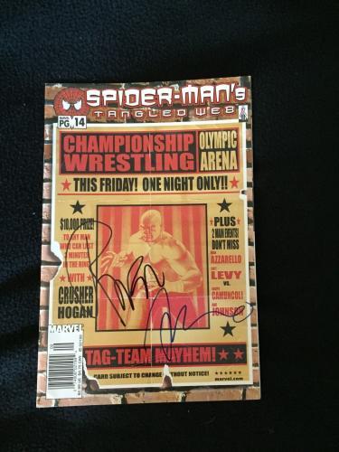 Raven & Brian Azzarello Signed Spider-man's Tangled Web Comic Book