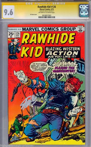 Rawhide Kid #126 Cgc 9.6 Oww Stan Lee Ss Signed Single Highest Graded 0024837001