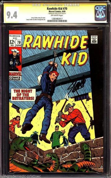 Rawhide Kid #70 Cgc 9.4 Ss Stan Lee Cgc #1283482017
