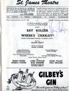 Ray Bolger Autographed Signed Where&#39s Charley 1950 Playbill