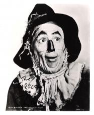 "RAY BOLGER - Best Known for his Portrayal of the SCARECROW in ""THE WIZARD OF OZ"" Signed 8x10 B/W Photo"