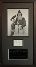 RAY BOLGER d.1987 (Wizard of Oz-Scarecrow) signed framed display- JSA F87959