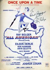 Ray Bolger Jsa Signed Sheet Music Authentic Autograph