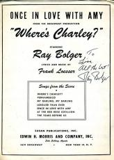 Ray Bolger Psa/dna Authenticated Signed Wheres Charley Sheet Music Autograph