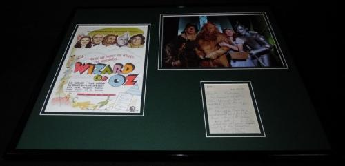 Ray Bolger Signed Framed 16x20 Handwritten Note & Photo Set JSA Wizard of Oz