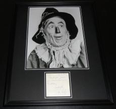 Ray Bolger Signed Framed 16x20 Note &  Photo Display JSA Wizard of Oz Scarecrow