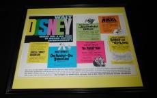Ray Bolger Signed Framed Original 1961 Babes in Toyland 16x20 Poster Display JSA