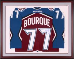 Ray Bourque Colorado Avalanche with 2001 Stanley Cup Logo Framed Autographed Burgundy Jersey