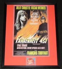 Ray Bradbury Fahrenheit 451 Signed Framed 16x20 Photo Poster Display JSA