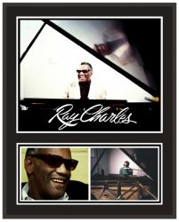 Ray Charles 2x15 SUBLIMATED COLOR Photo PLAQUE