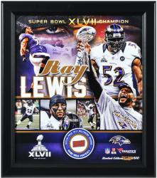 Ray Lewis Baltimore Ravens Framed Super Bowl XLVII Collage with Game-Used Football-Limited Edition of 500 - Mounted Memories
