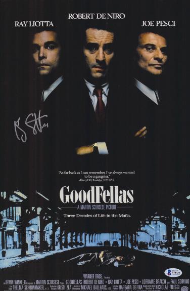 "Ray Liotta Autographed 12"" x 18"" Goodfellas Movie Poster - BAS COA"