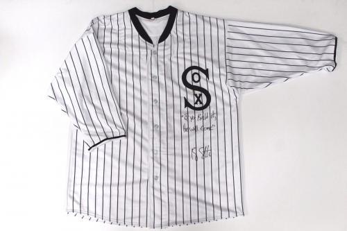 """Ray Liotta Autographed """"Field of Dreams"""" 1919 White Sox Jersey (PSA 8A34179)"""