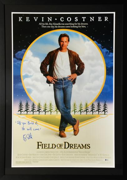 """Ray Liotta Framed Autographed 30"""" x 42"""" Field of Dreams Movie Poster With Inscription - BAS COA"""