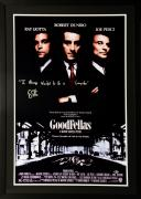 "Ray Liotta Framed Autographed 30"" x 42"" Goodfellas Movie Poster With Inscription - BAS COA"