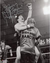 Ray Mancini Autographed 8'' x 10'' Hand Raised Photograph
