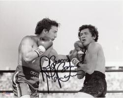 Ray Mancini Autographed 8'' x 10'' Punching Photograph