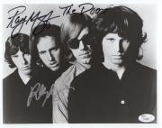 RAY MANZAREK+ROBBIE KRIEGER HAND SIGNED 8x10 PHOTO     THE DOORS     RARE    JSA