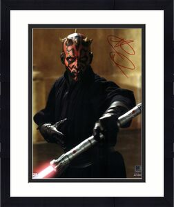 """Ray Park Star Wars The Phantom Menace Autographed 8"""" x 10"""" as Darth Maul Photograph - Topps Authentic"""
