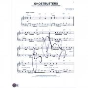 "Ray Parker Jr. Ghostbusters Autographed 8"" x 10"" Sheet Music Photograph"