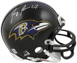 Ray Rice Baltimore Ravens Autographed Riddell Mini Helmet - Mounted Memories
