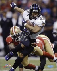 "Ray Rice Baltimore Ravens Super Bowl XLVII Champions Autographed 8"" x 10"" Photo"