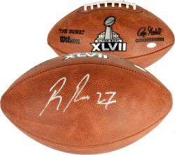 Ray Rice Baltimore Ravens Super Bowl XLVII Autographed Pro Football - Mounted Memories