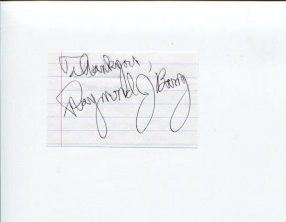 Raymond J. Barry Justified CSI NCIS The X-Files Cold Case Signed Autograph