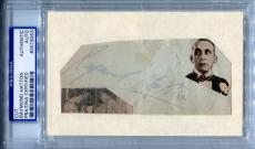 RAYMOND HATTON Signed Cut w/ Photo ADVENTURES OF SUPERMAN Dick Tracy PSA/DNA