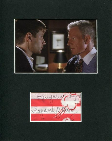 Raymond J. Barry The X-Files Signed Autograph Photo Display W/ David Duchovny