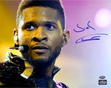 Usher Raymond Autographed 11'' x 14'' Sweating Photograph