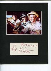 Red Buttons Hatari! Signed Autograph Photo Display W/ John Wayne Elsa Martinelli