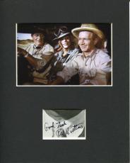 Red Buttons Rare Hatari! Signed Autograph Photo Display With John Wayne