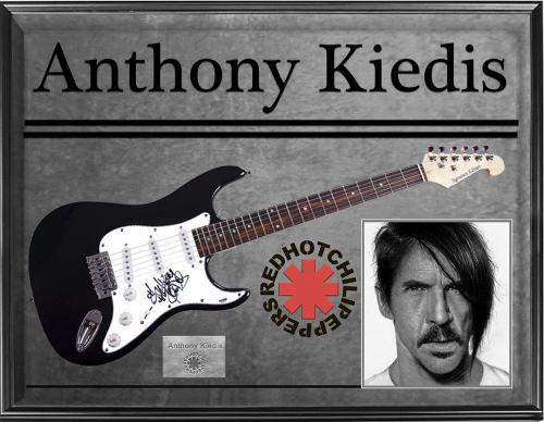 Red Hot Chili Peppers Anthony Kiedis Signed Guitar + Display Psa/Dna AFTAL