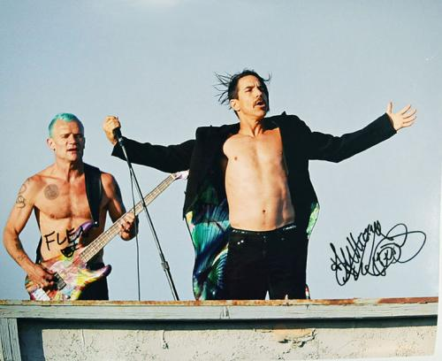 Red Hot Chili Peppers Autographed 16x20 Live Concert Poster Phot AFTAL