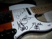 Red Hot Chili Peppers COMPLETE Band Signed Autographed Guitar PSA Certified