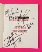 Red Hot Chili Peppers Complete Band Signed Fandemonium Book With Photos & Coa