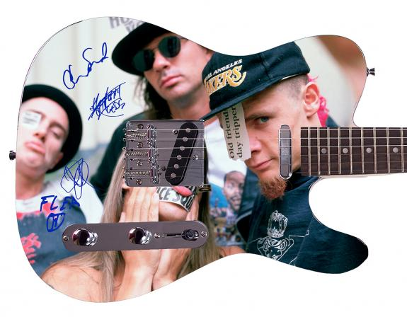 Red Hot Chili Peppers  Facsimile Signature Custom Graphics Guitar