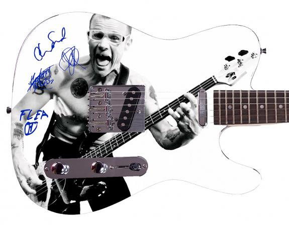 Red Hot Chili Peppers  Facsimile Signature Custom Graphics Guitar