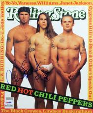 Red Hot Chili Peppers Flea & Chad Smith Signed Rolling Stone PSA/DNA #AC43033